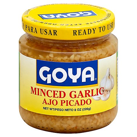 Goya Garlic Minced Jar - 8 Oz