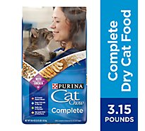 Purina Cat Chow Cat Food Complete Kibble Blend Dry Adult - 3.15 Lb