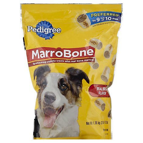 PEDIGREE MarroBone Biscuit With Tasty Bone Marrow Real Beef Flavor Pouch - 2.97 Lb