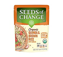 Seeds of Change Organic Quinoa & Brown Rice With Garlic Pouch - 8.5 Oz