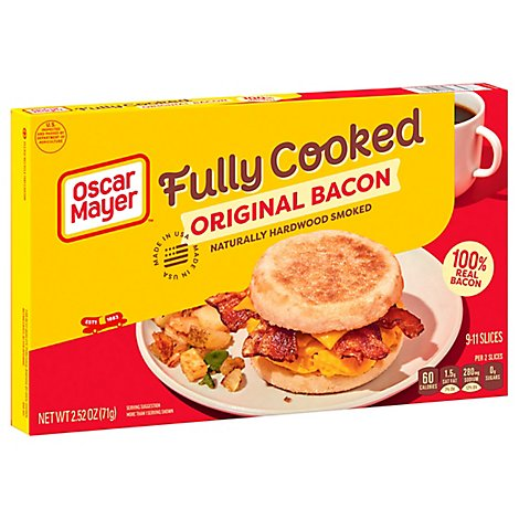 Oscar Mayer Bacon Fully Cooked Original - 2.52 Oz