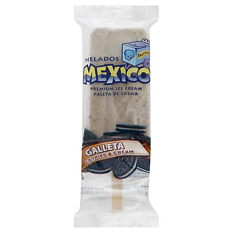 Helados Mexico Ice Cream Bar Cookies & Cream - 4 Fl. Oz.