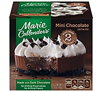 Marie Callenders Pie Chocolate Satin Mini 2 Count - 6 Oz