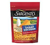 Sargento Off the Block Cheese Shredded Sharp Cheddar - 8 Oz