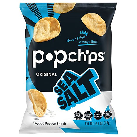 popchips Popped Chip Snack Sea Salt Potato - 0.8 Oz