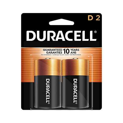 Duracell CopperTop D Alkaline Batteries  - 2 count