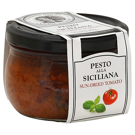 Cucina & Amore Pesto Alla Siciliana Sun-Dried Tomato Jar - 7.9 Oz