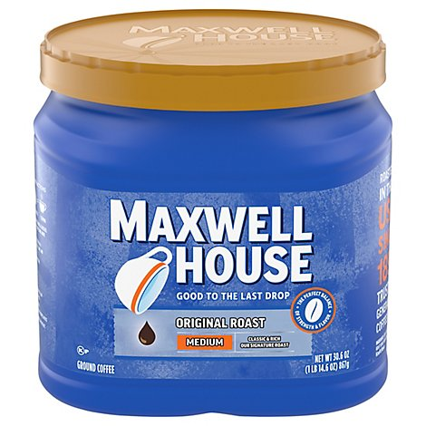 Maxwell House Coffee Ground Medium The Original Roast - 30.6 Oz