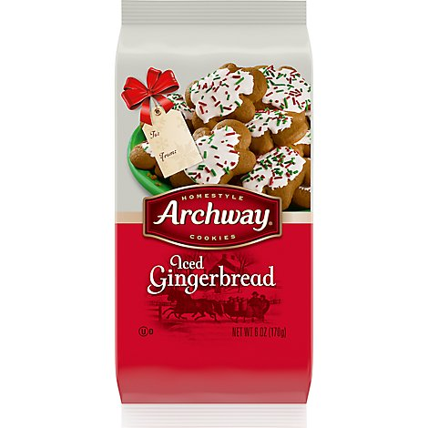 Archway Homestyle Cookies Iced Gingerbread - 6 Oz