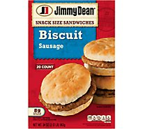 Jimmy Dean Sandwiches Snack Size Biscuits Sausage 20 Count - 34 Oz