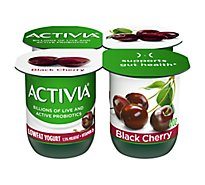 Activia Yogurt Lowfat Probiotic Black Cherry - 4-4 Oz
