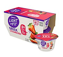 Dannon Light & Fit Yogurt Greek Nonfat Strawberry - 4-5.3 Oz