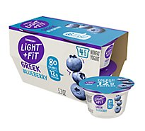 Dannon Light & Fit Yogurt Greek Nonfat Blueberry - 4-5.3 Oz