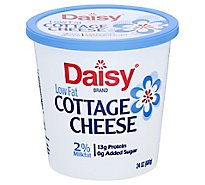 Daisy Cheese Cottage Small Curd 2% Milkfat Low Fat - 24 Oz