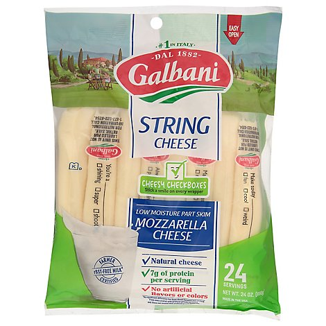 Galbani Stringsters Riddles & Trivia Cheese - 24 Oz