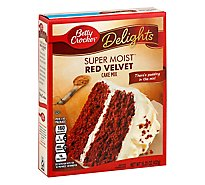 Betty Crocker Delights Cake Mix Super Moist Red Velvet - 15.25 Oz