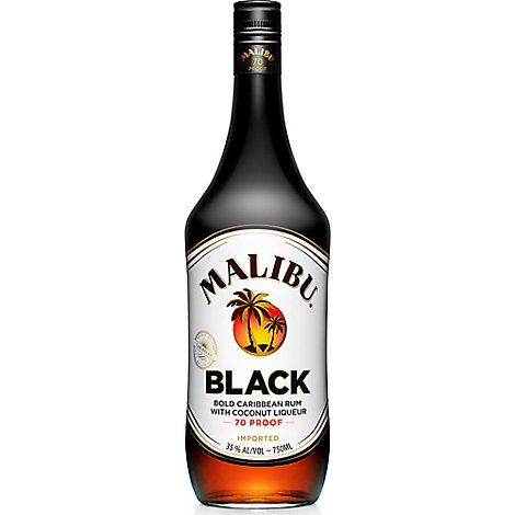 Malibu Black Rum 70 Proof - 750 Ml