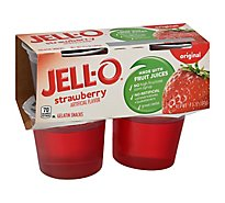 JELL-O Gelatin Snacks Original Strawberry 4 Count - 13.5 Oz