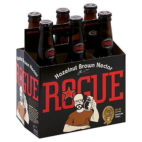Rogue Hazelnut Brown Ale In Bottles - 6-12 Fl. Oz.