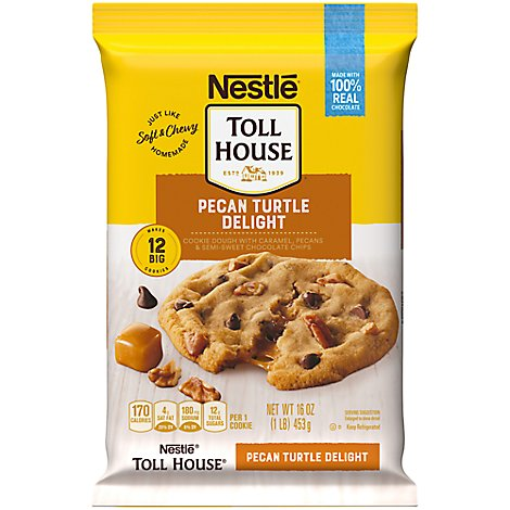 Nestle Toll House Cookie Dough Pecan Turtle Delight - 16 Oz