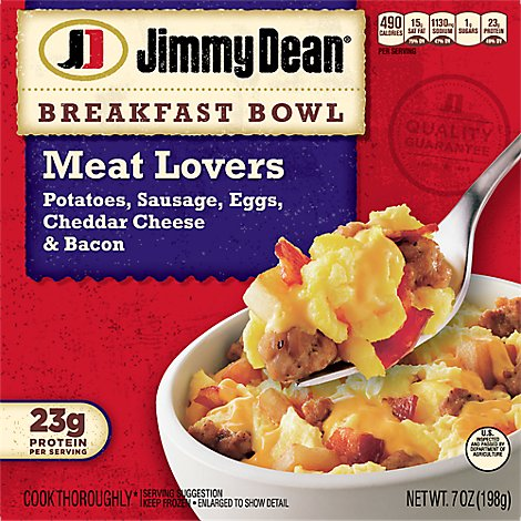 Jimmy Dean Meat Lovers Breakfast Bowl - 7 Oz