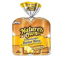 Natures Own Butter Buns Hamburger - 16 Oz