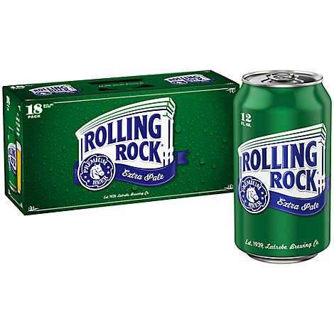 Rolling Rock Beer Cans - 18-12 Fl. Oz.