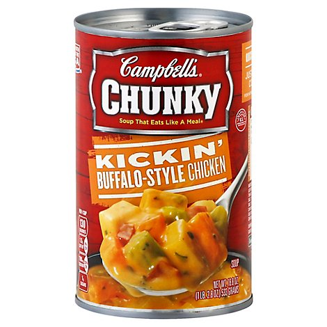 Campbells Chunky Soup Kickin Buffalo-Style Chicken - 18.8 Oz