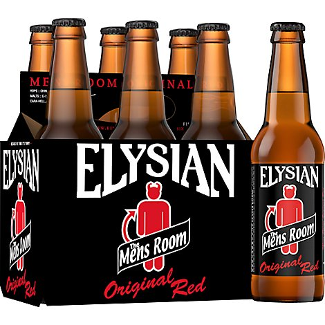 Elysian Mens Room Red Ale Bottles - 6-12 Fl. Oz.