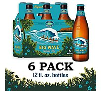 Kona Brewing Beer Liquid Aloha Golden Ale Big Wave Bottle - 6-12 Fl. Oz.