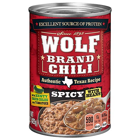 Wolf Brand Chili With Beans Spicy - 15 Oz
