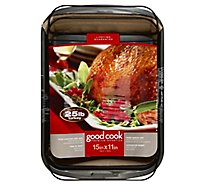 Good Cook Premium Roast Pan Non Stick With Rack Large 15 x 11 Inch - Each