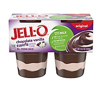 JELL-O Pudding Snacks Original Chocolate Vanilla Swirls - 15.5 Oz