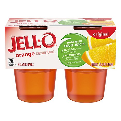 JELL-O Gelatin Snacks Original Orange - 13.5 Oz