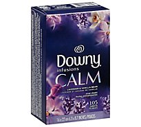 Downy Infusions Fabric Softener Sheets Lavender Serenity Box - 105 Count