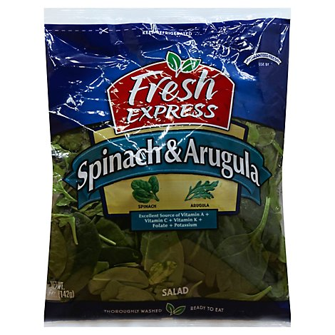 Fresh Express Salad Greens Spinach & Arugula - 5 Oz
