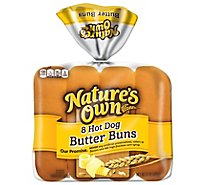 Natures Own Butter Buns Hot Dog - 8-15 Oz