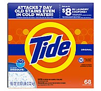 Tide Powder Laundry Detergent Original Scent 68 Loads - 95 Oz