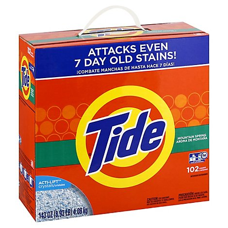 Tide Laundry Detergent Powder Mountain Spring - 143 Oz