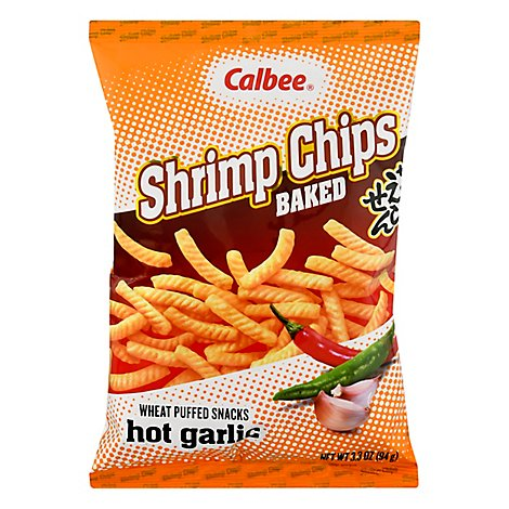 Calbee Shrimp Chips Hot Garlic - 3.3 Oz