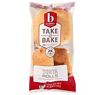 La Brea Bakery Take & Bake Bread Rolls Telera - 4-3 Oz