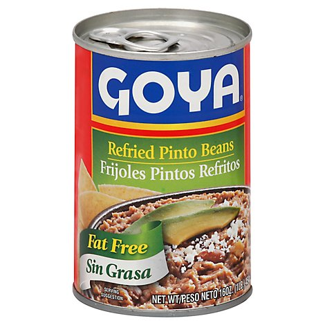 Goya Beans Refried Pinto Fat Free Can - 16 Oz