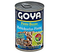 Goya Beans Pinto Premium Low Sodium Can - 15.5 Oz
