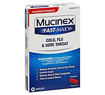 Mucinex Fast-Max Cold Flu and Sore Throat Medicine Multi Symptom Caplets - 20 Count