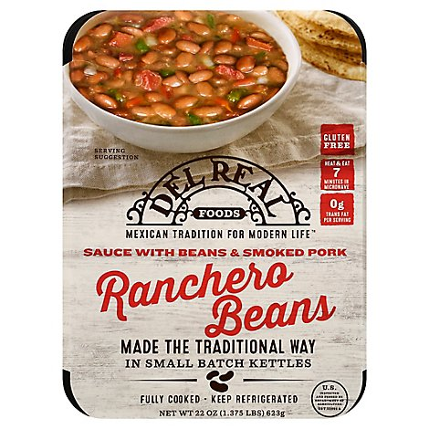 Del Real Ranchero Bean/Ham - 24 Oz