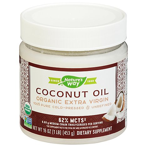 Natures Way Efagold Coconut Oil Dietary Supplement Organic - 16 Oz