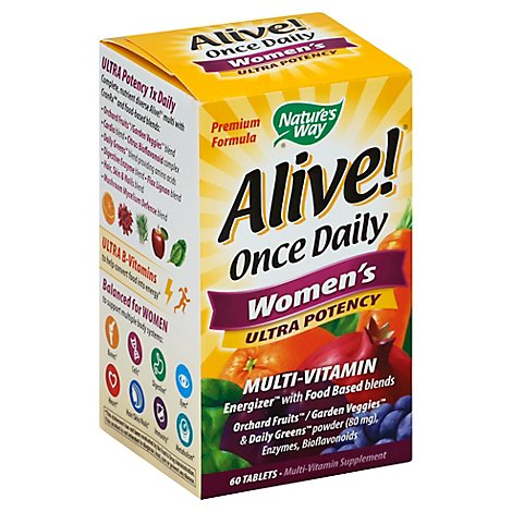 Natures Way Alive Womens Multi Vitamin - 60 Count