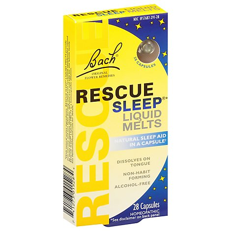 Bach Original Flower Remedies Rescue Sleep Liquid Melts Capsules - 28 Count