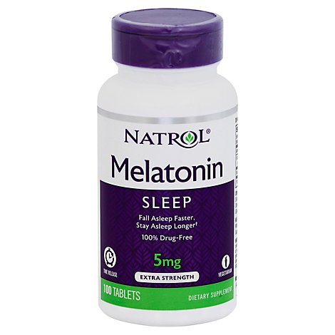 Natrol Melatonin Tr Time Release 5 Mg Tablets - 100 Count
