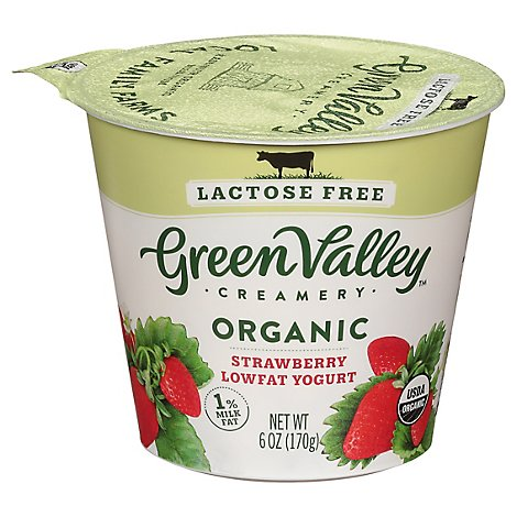 Green Valley Organics Yogurt Strawberry Yogurt - 6 Oz